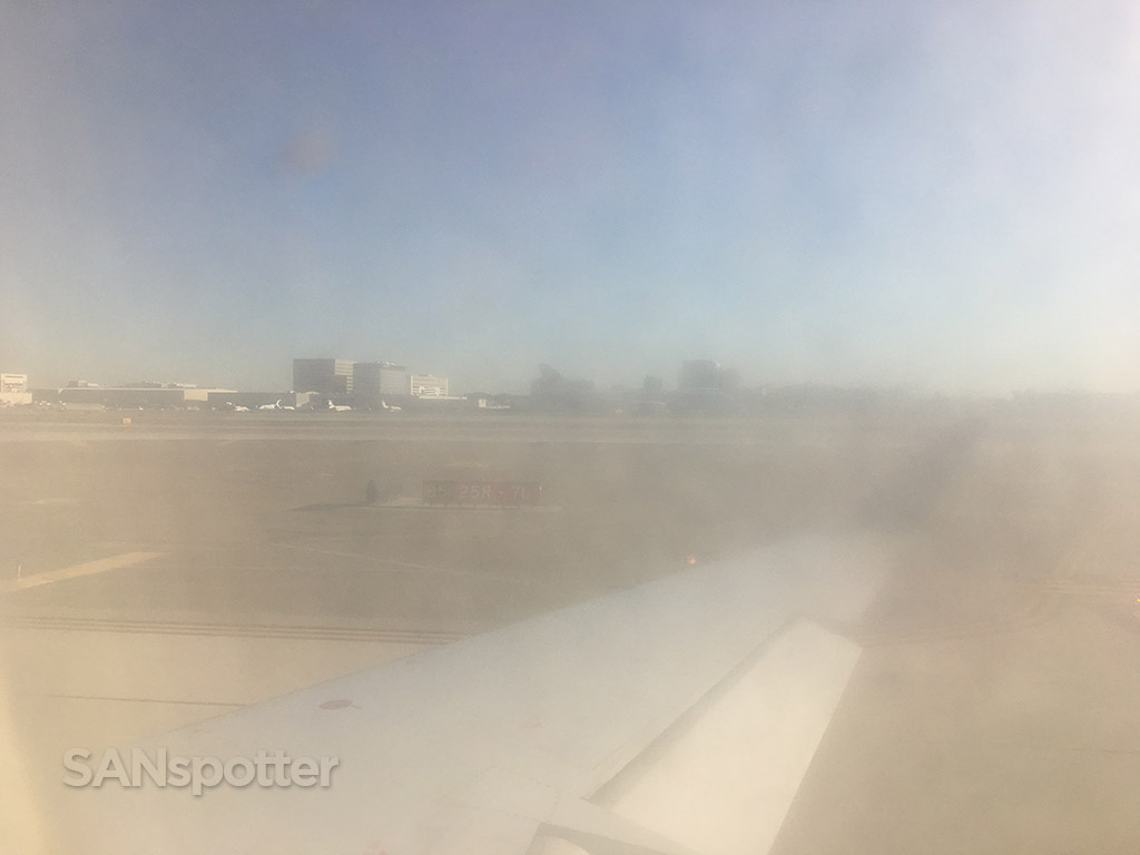 dirty airplane windows