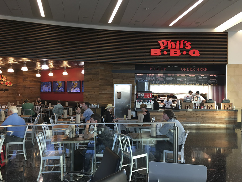 Phil's BBQ terminal 2 west san diego airport