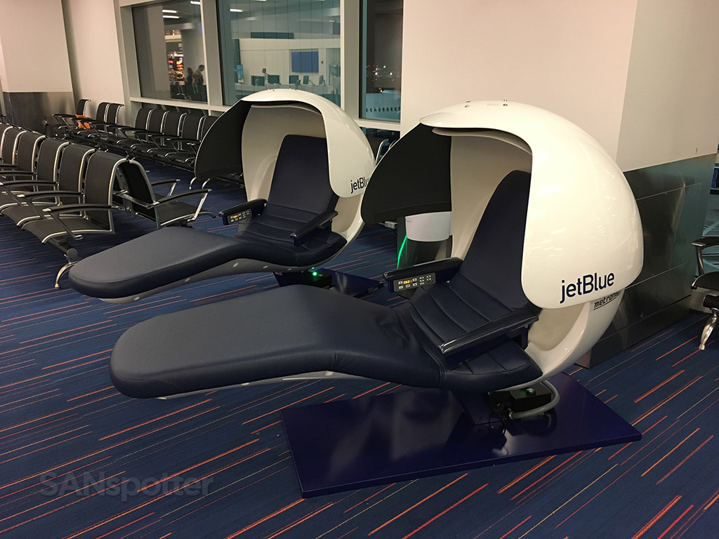 JetBlue relaxation pods JFK airport