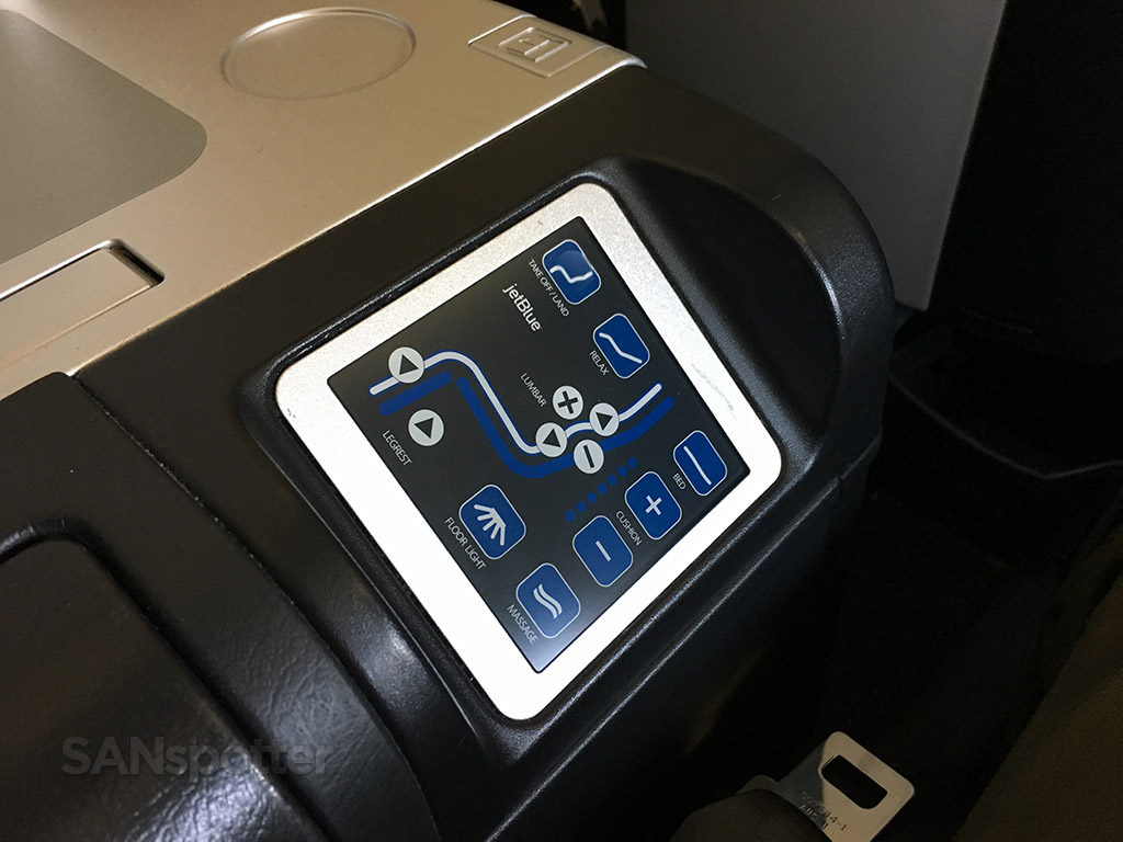JetBlue Mint seat controls