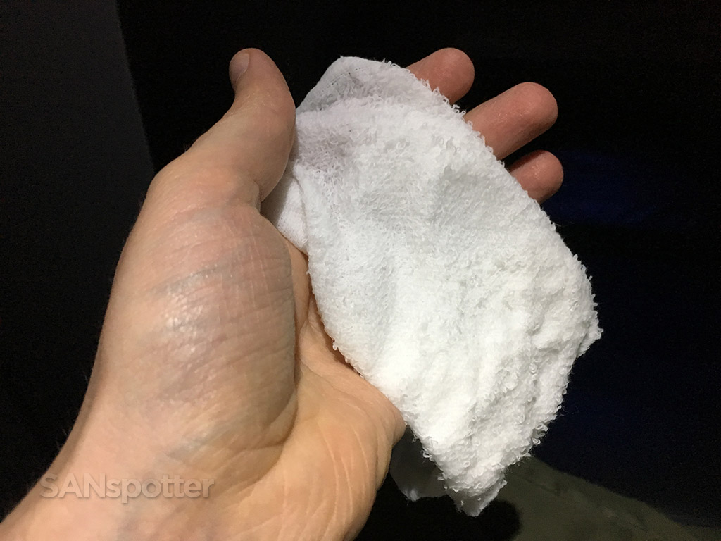 JetBlue Mint hot towel