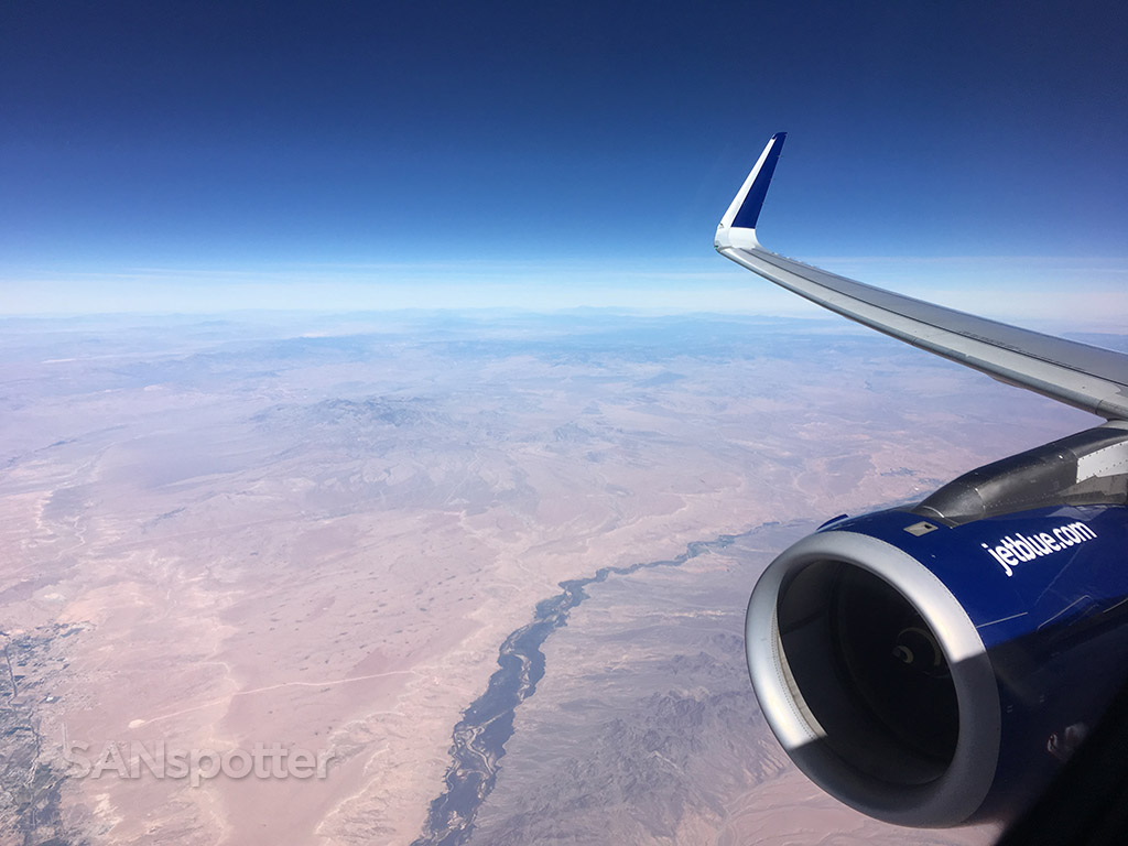 flying over western US desert