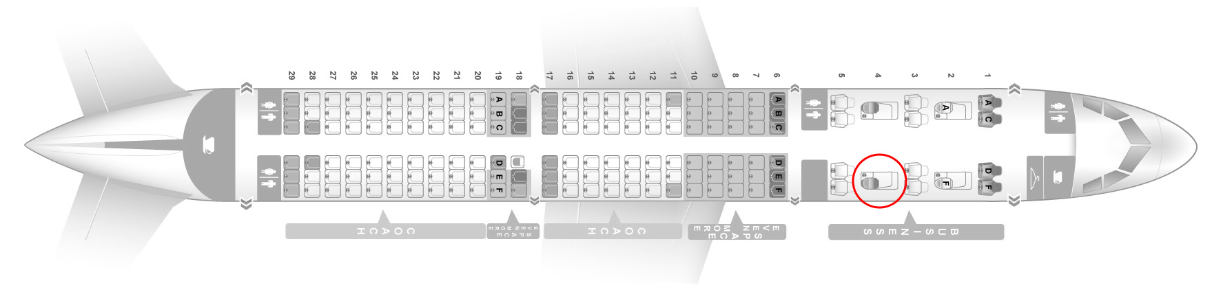 JetBlue A321 seat map