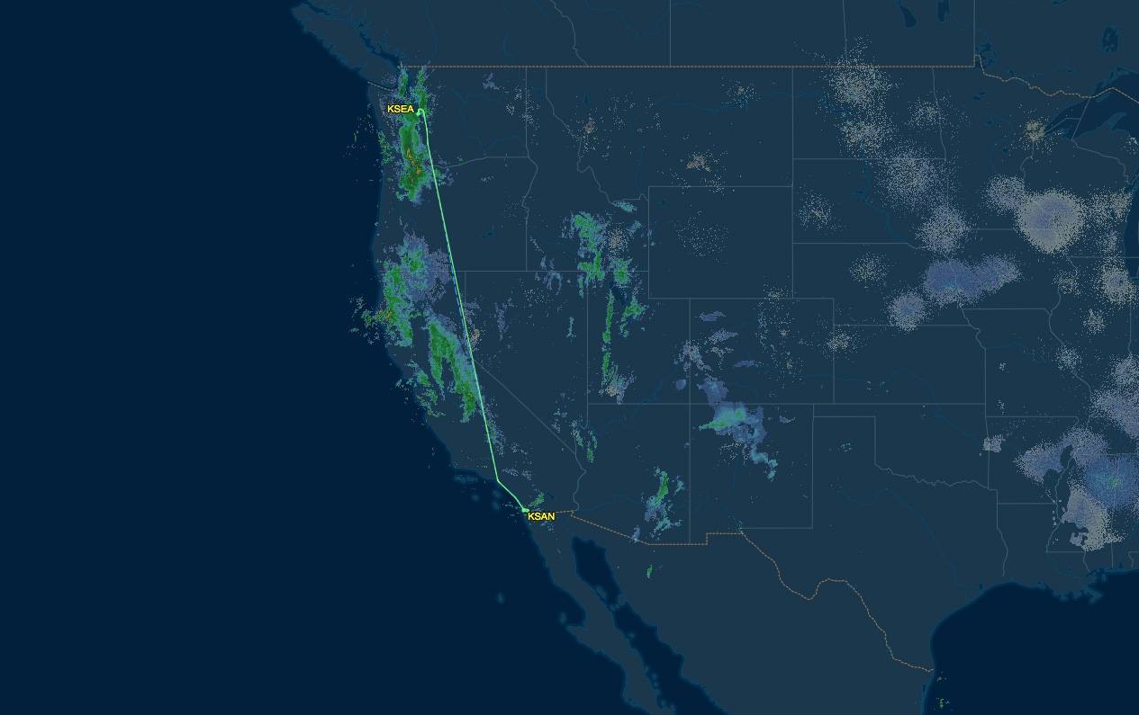 seattle to san diego air route map