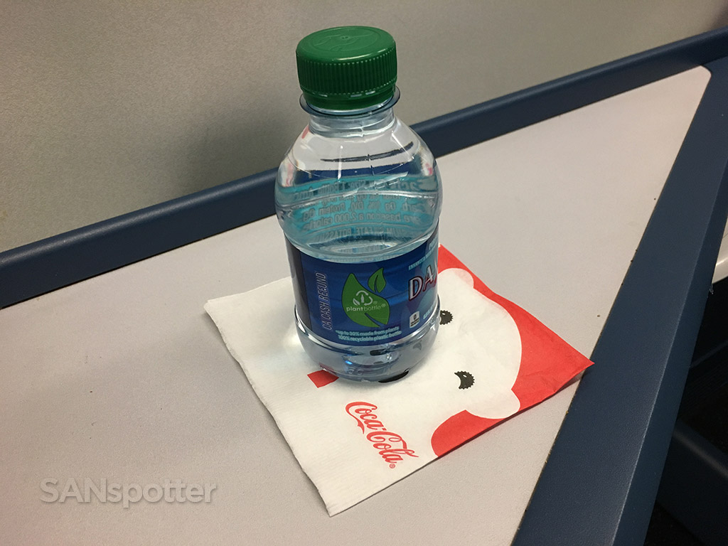 Delta One complimentary water