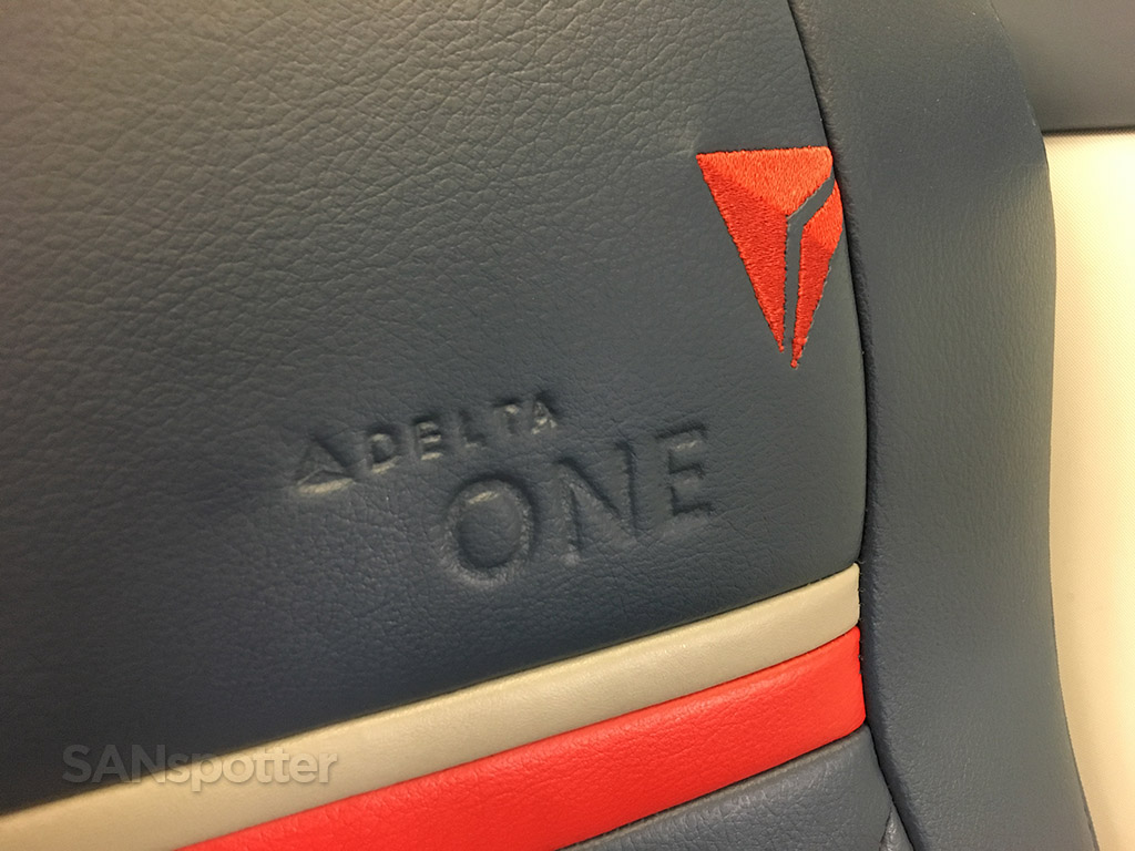 Delta One logo in seat A330-300