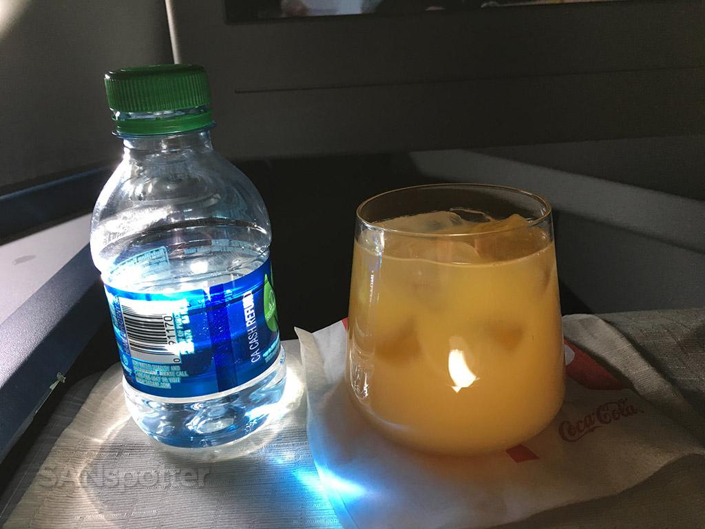 Delta One beverage service