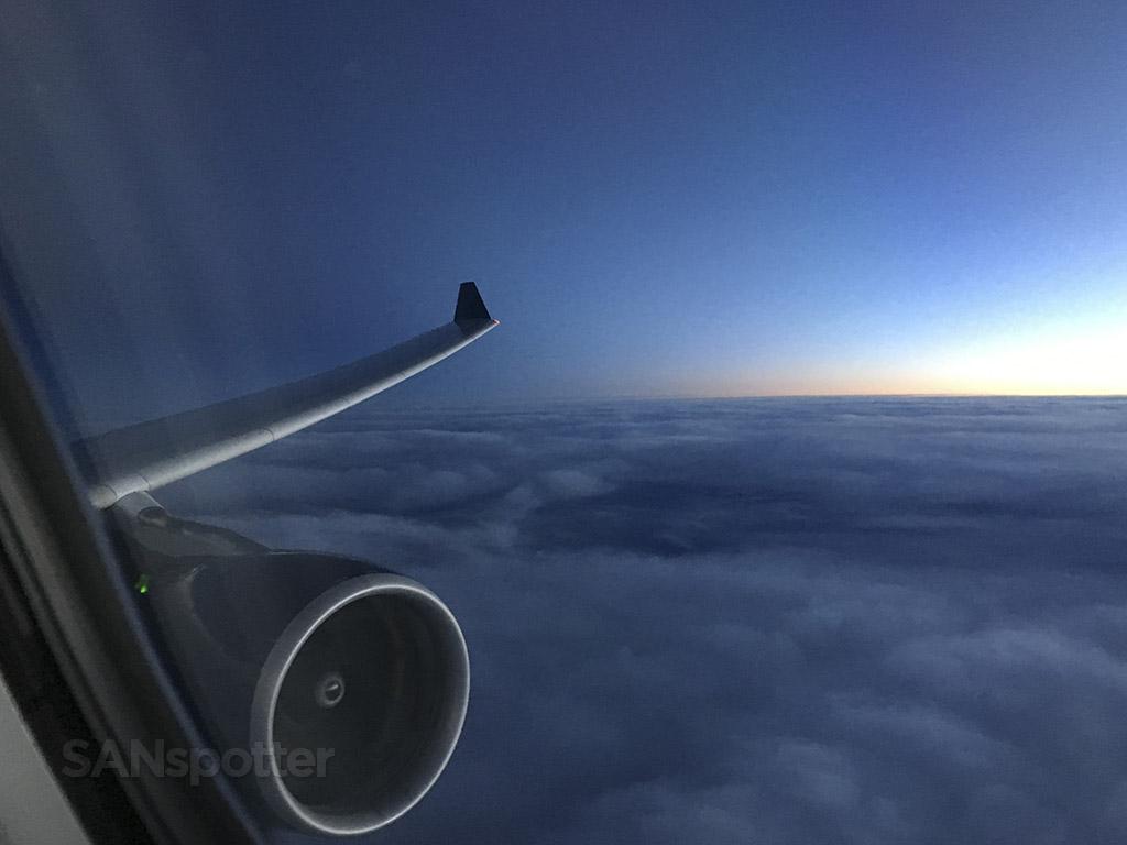 setting sun 36000ft