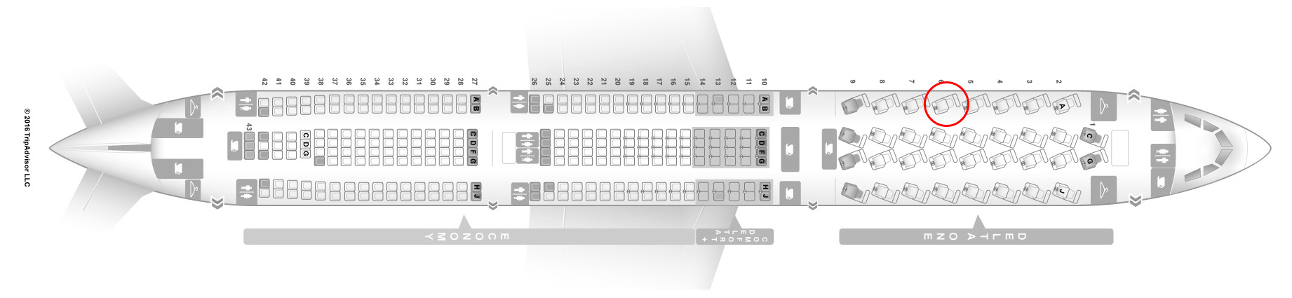 delta A330-300 seat map