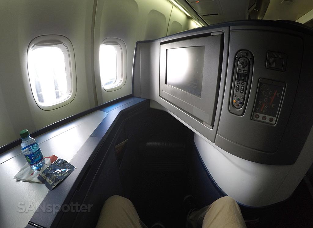 Delta One 747-400 leg room