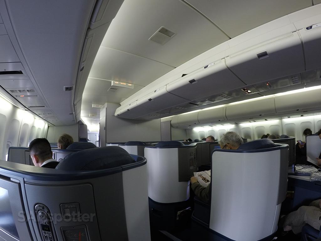 Delta One 747-400 cabin