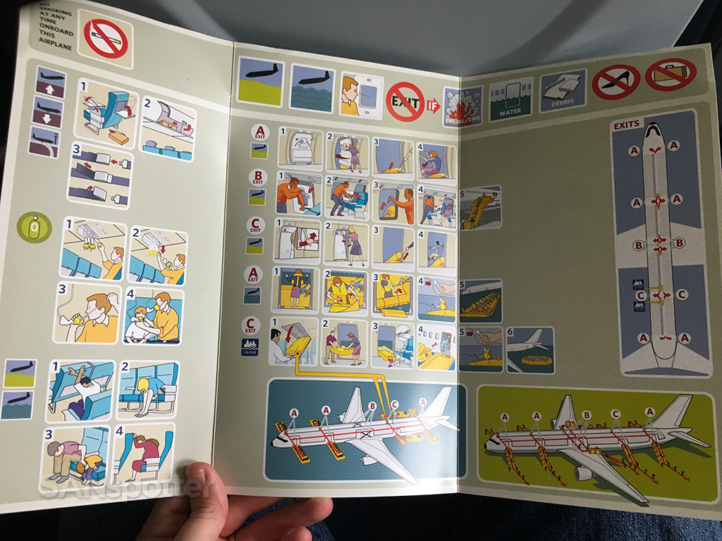 delta 757-300 safety card