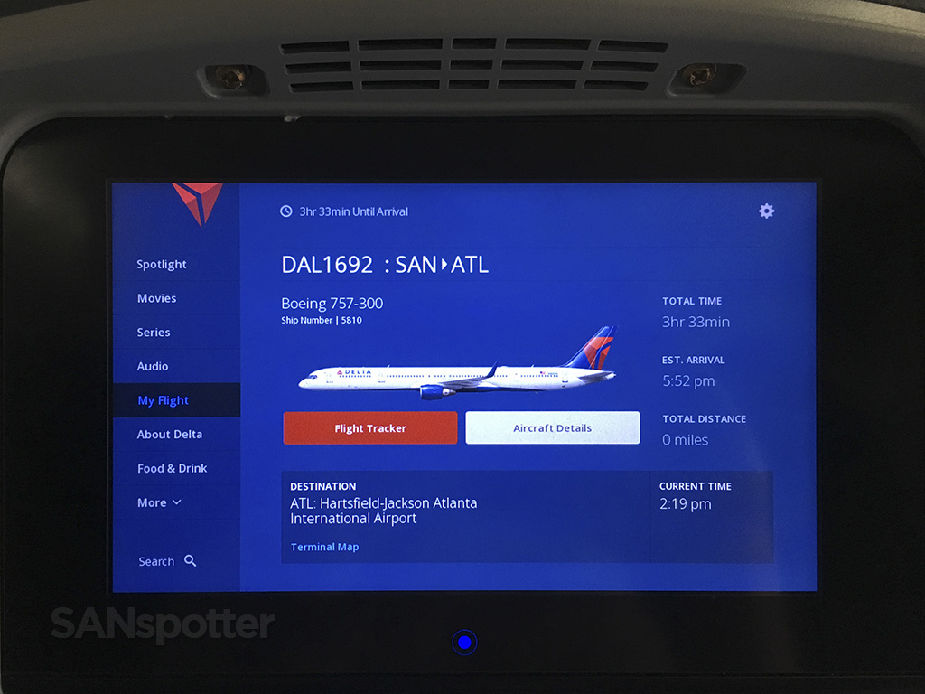 delta studio aircraft detail screen