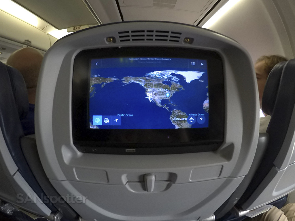 Delta Air Lines 757-300 seat-back video screen