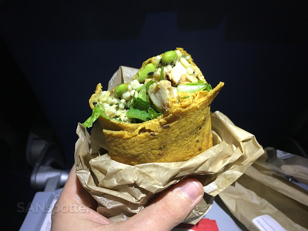 delta air lines chicken wrap
