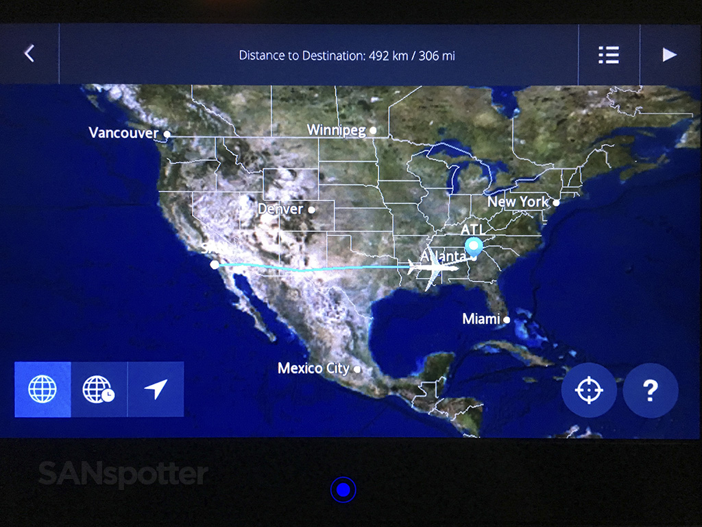 delta studio in flight map