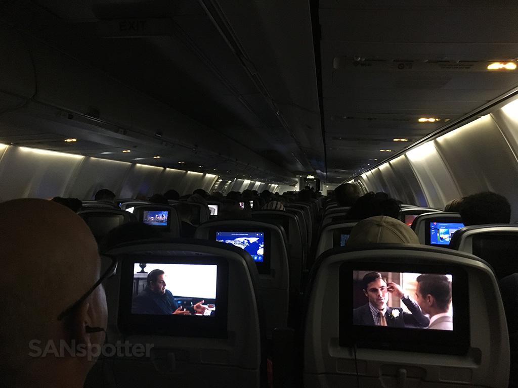 delta air lines 757-300 economy class cabin