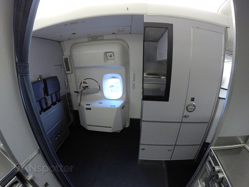 Delta Air Lines 747-400 forward galley