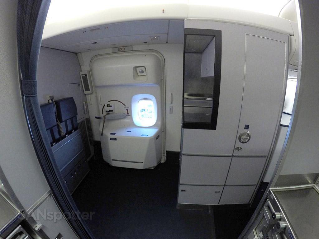 Delta Air Lines 747-400 forward galley