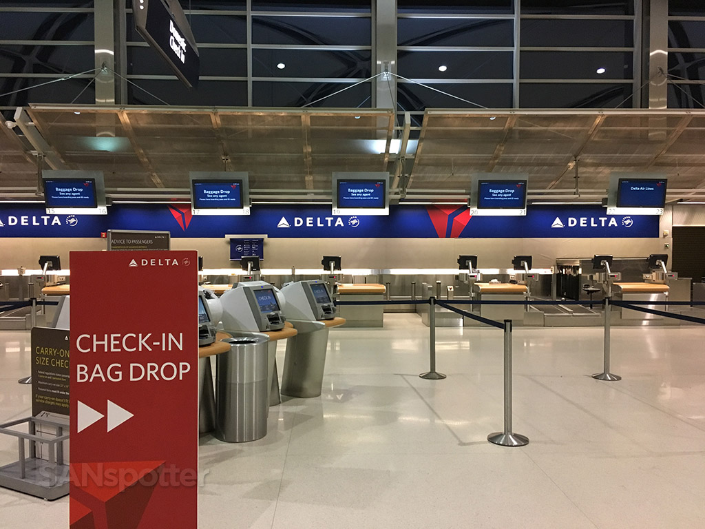 delta check in DTW airport