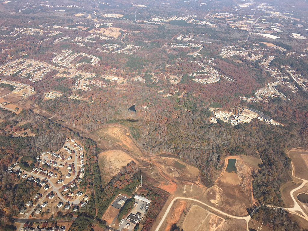 flying over atlanta