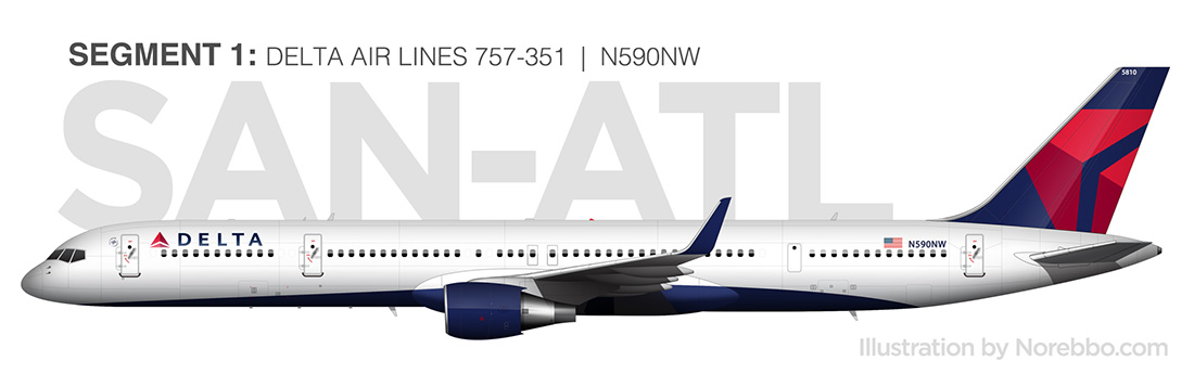 delta 757-300 side view drawing