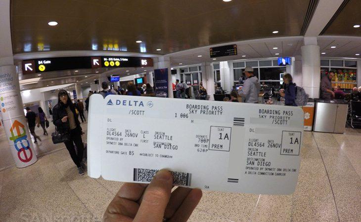 delta first class boarding pass