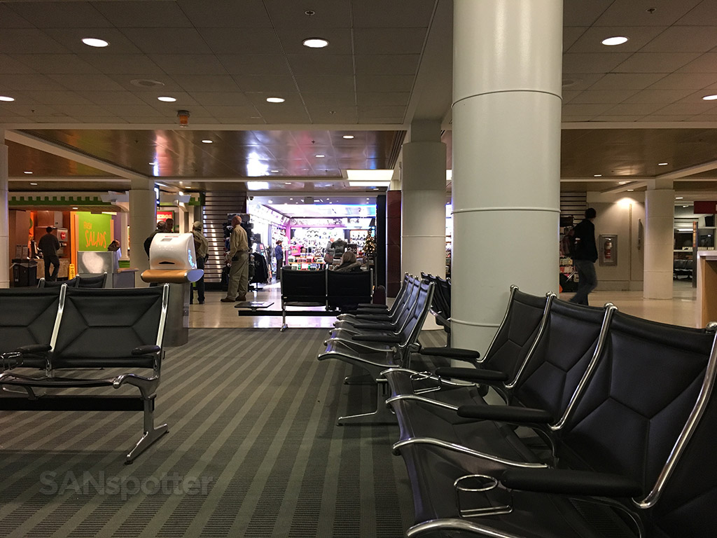 Seattle airport B concourse interior