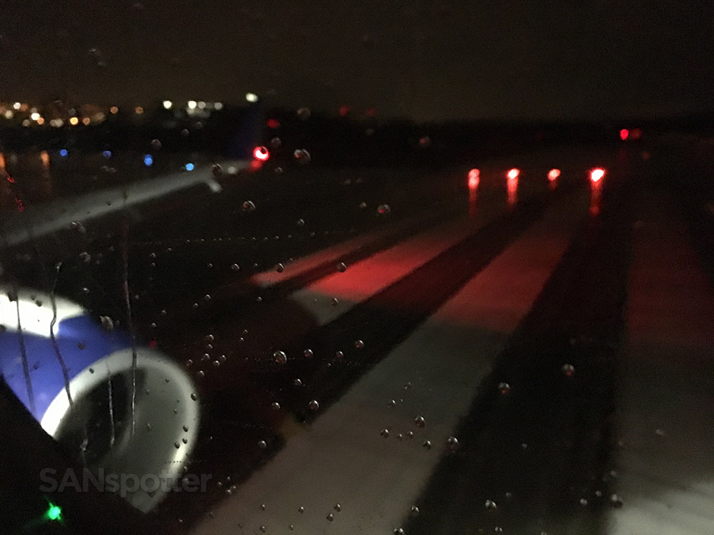 departing SEA airport late night