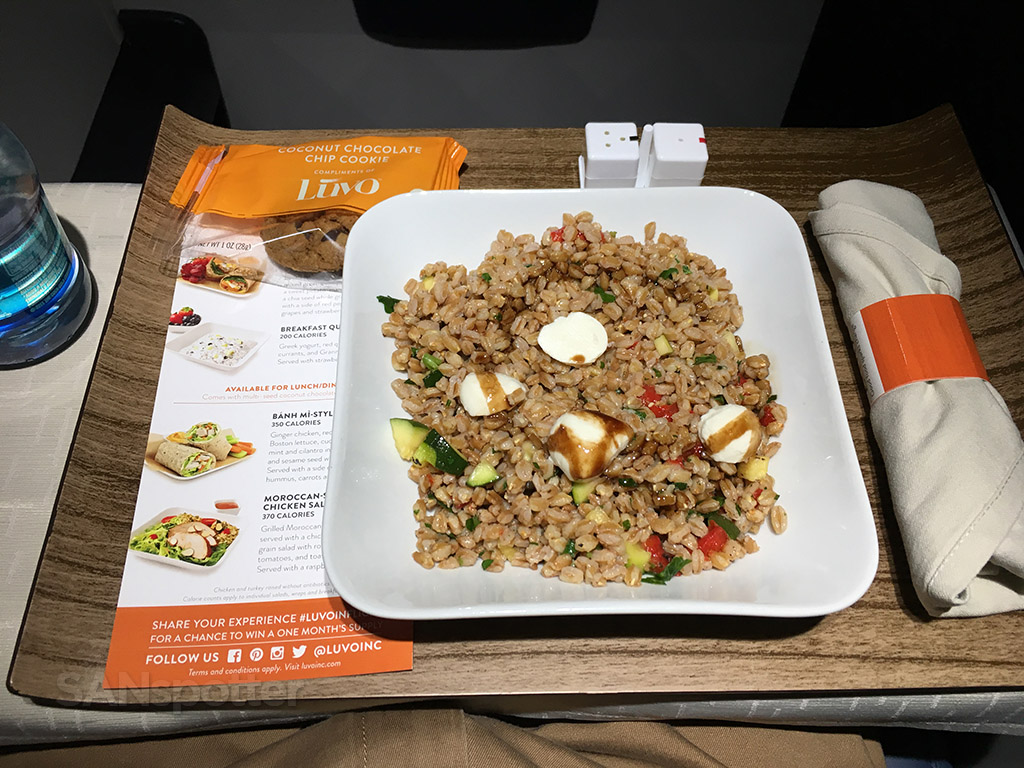 delta connection first class meal