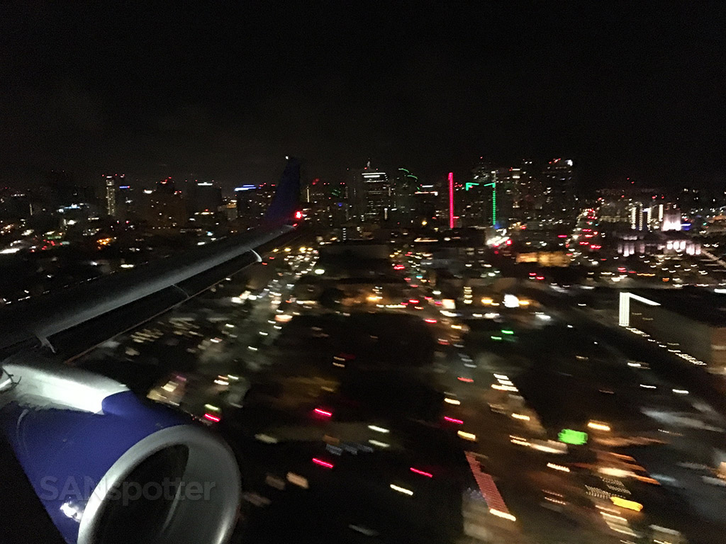 flying into san diego at night
