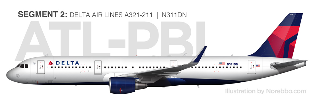 delta air lines a321 side view
