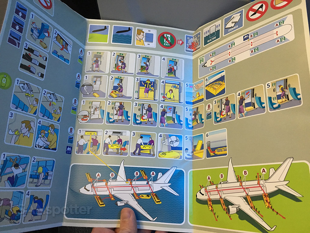 Delta Air Lines A321 safety card interior