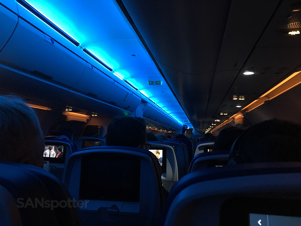 Delta Air Lines A321 economy class cabin