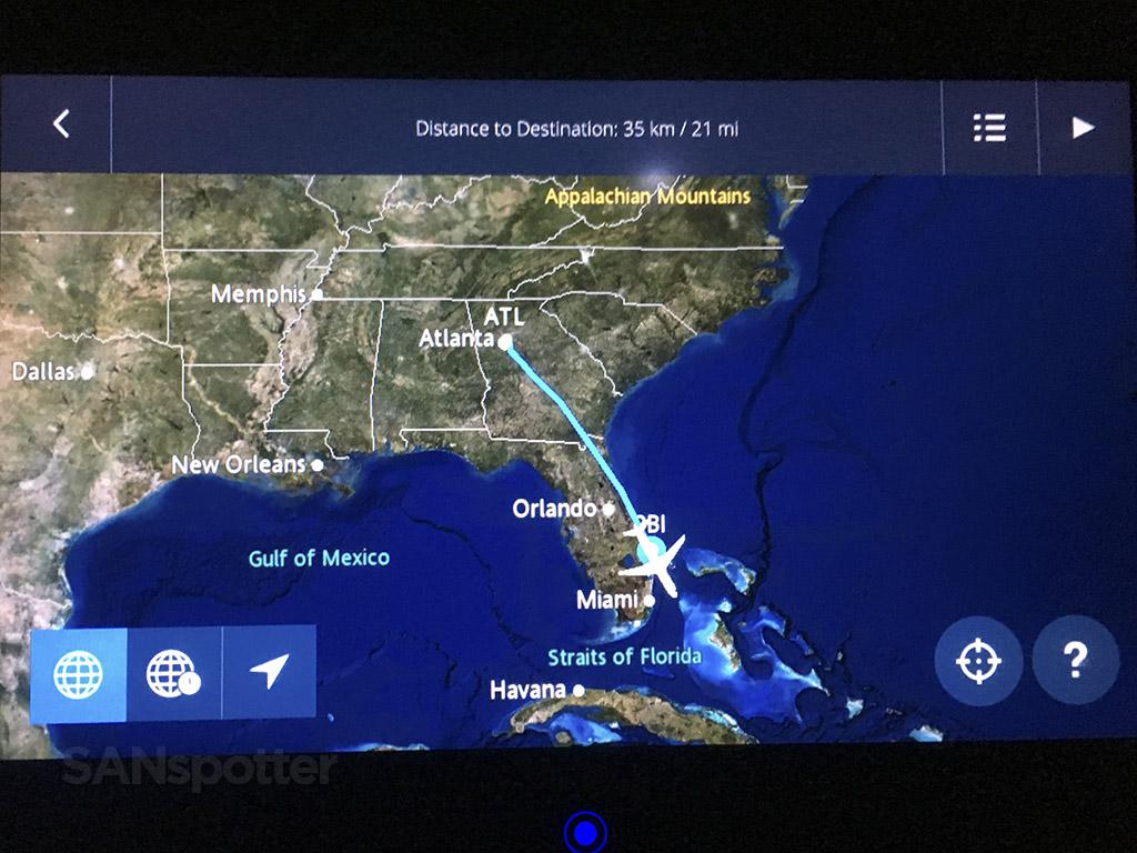 delta atl-pbi in flight map