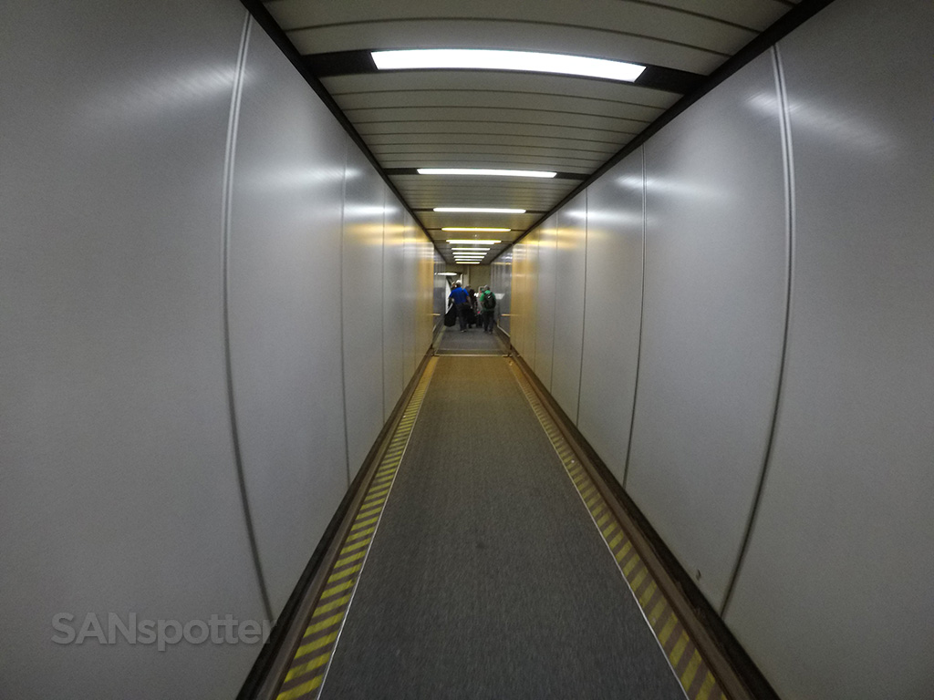 boarding aircraft jet bridge