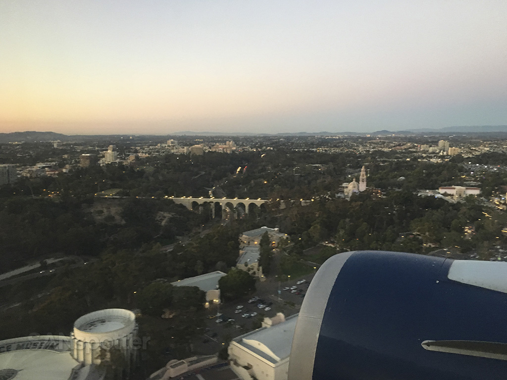 flying over balboa park