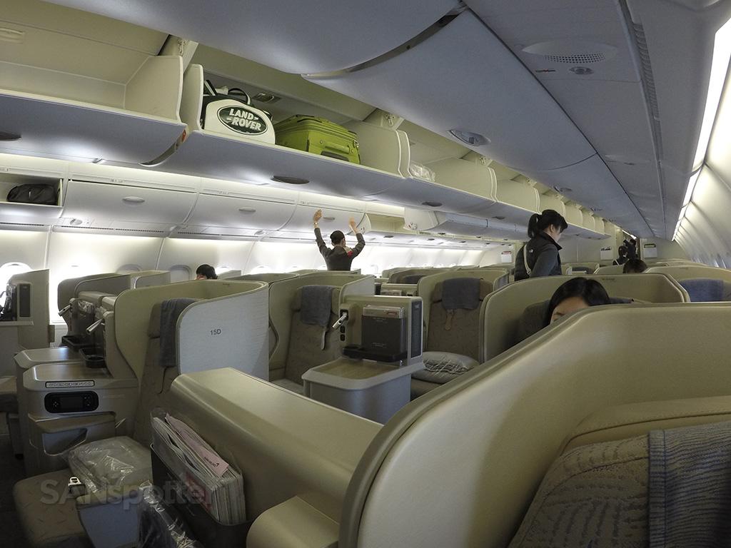 Asiana A380 business class cabin