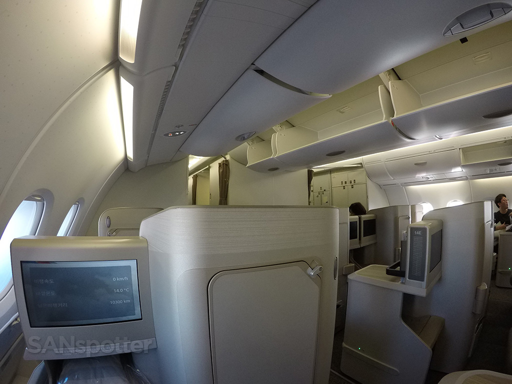 Asiana A380 business class privacy