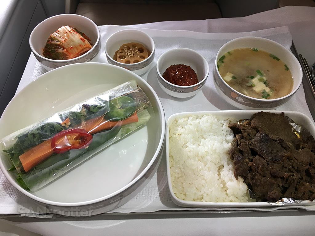 Asiana business class Korean style main course