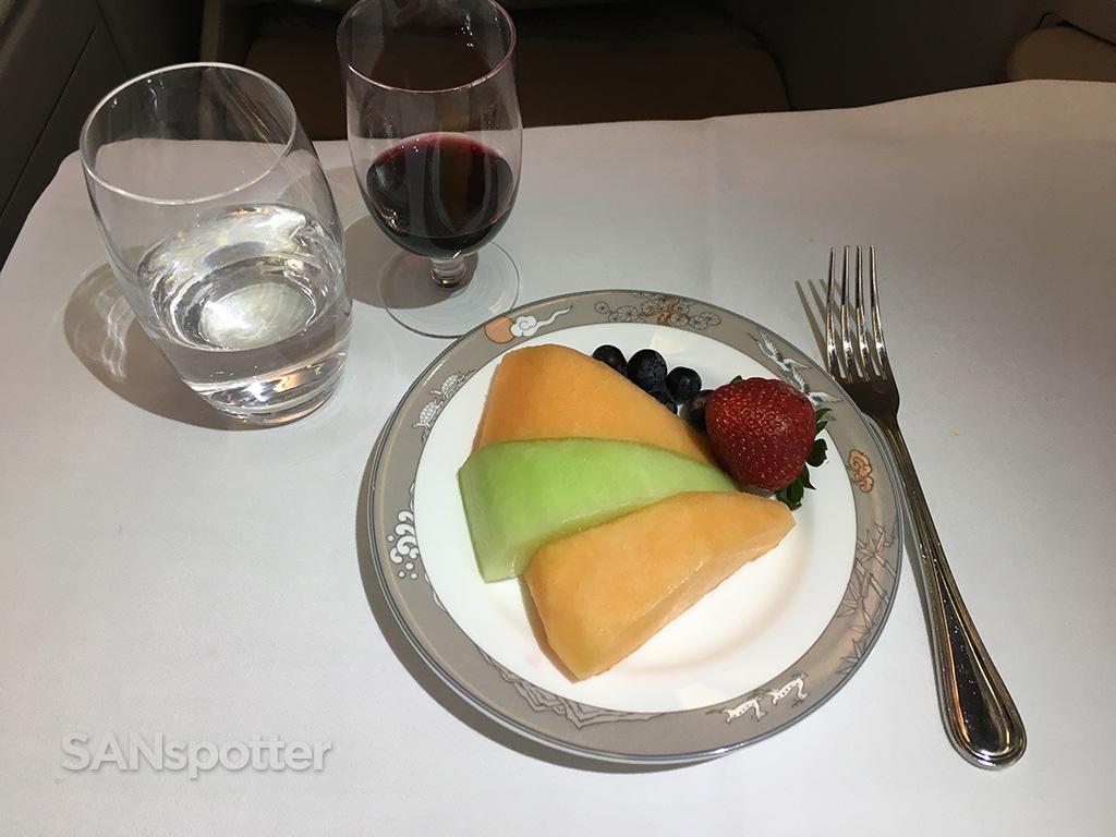 Asiana business class Korean style dessert