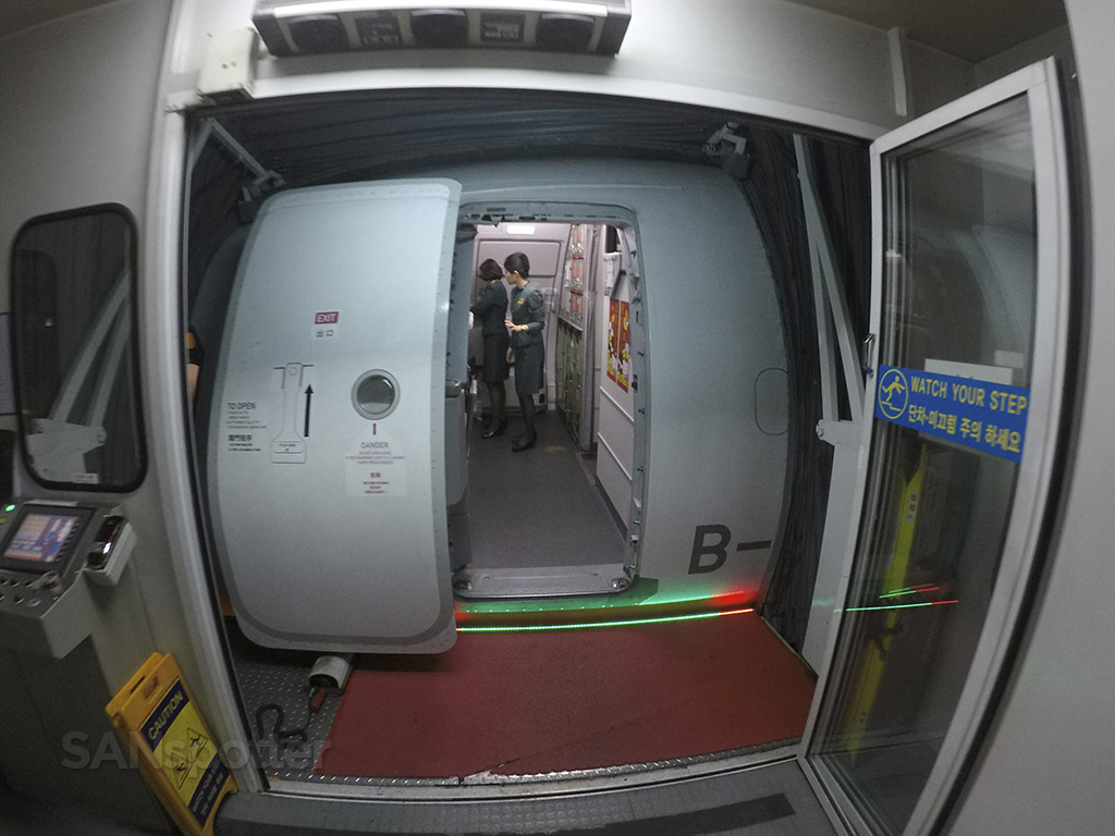 EVA air a321 boarding door
