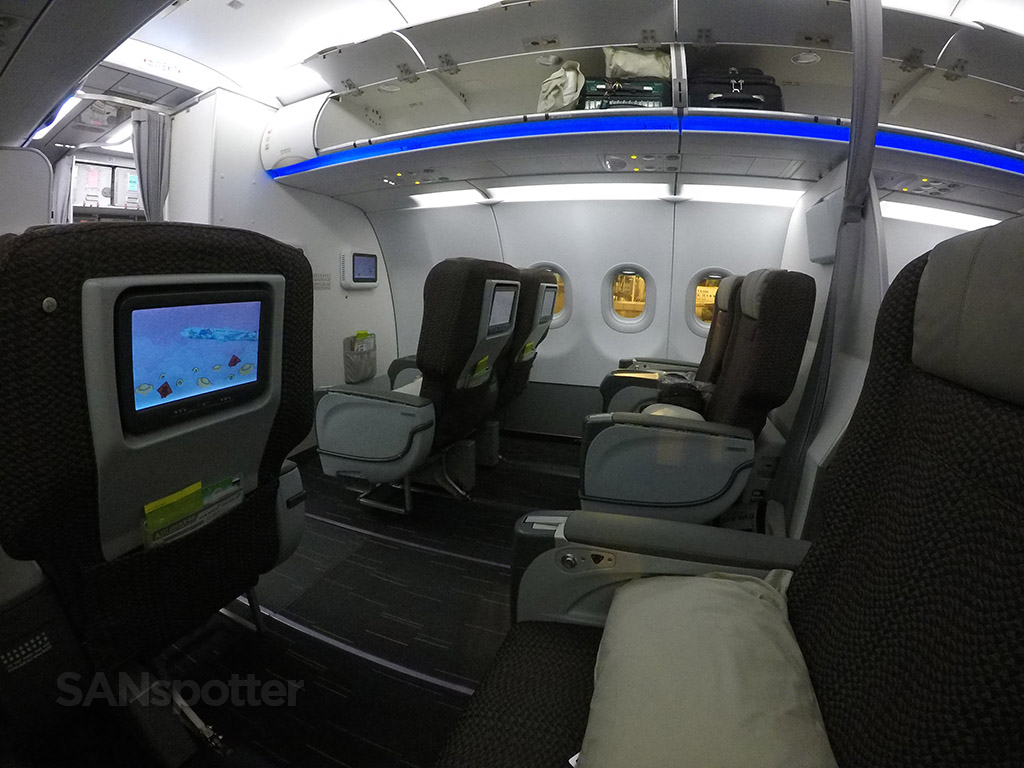 EVA Air A321 business class cabin
