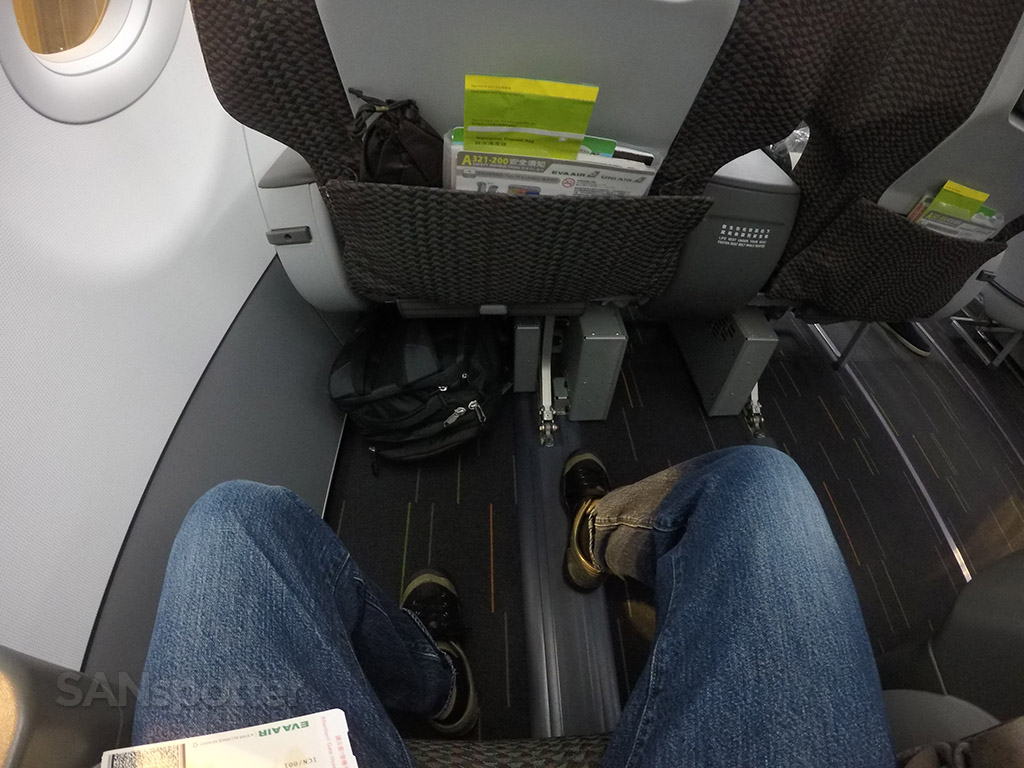 EVA Air A321 business class seat pitch