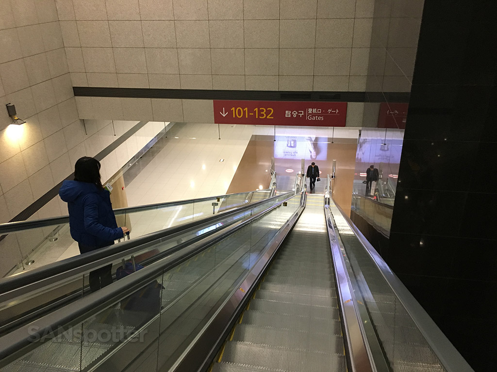 ICN airport escalators