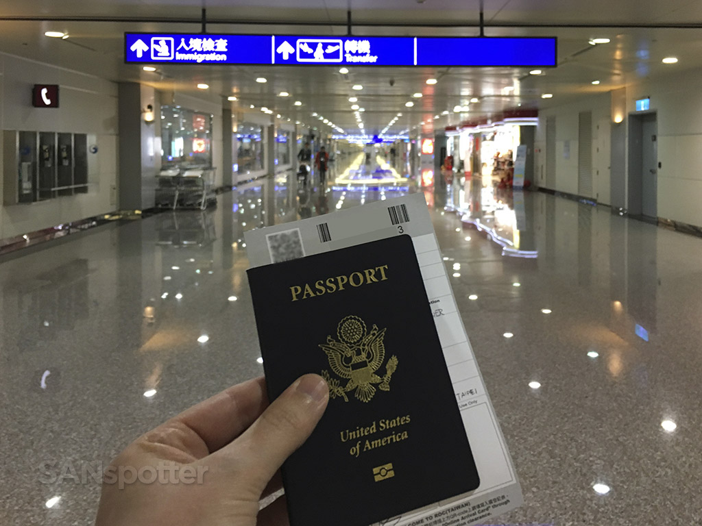 Taipei airport US passport