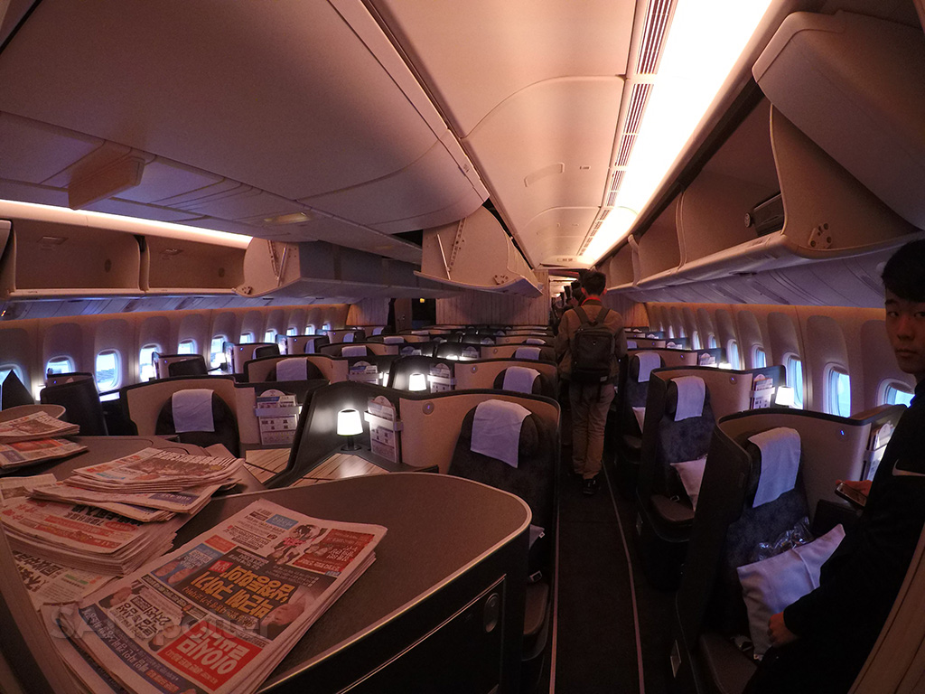 China Airlines 777-300 business class cabin