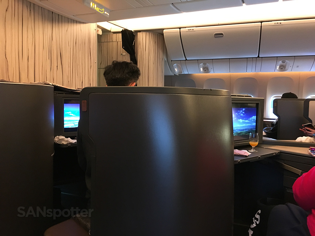 china airlines 777-300 business class privacy