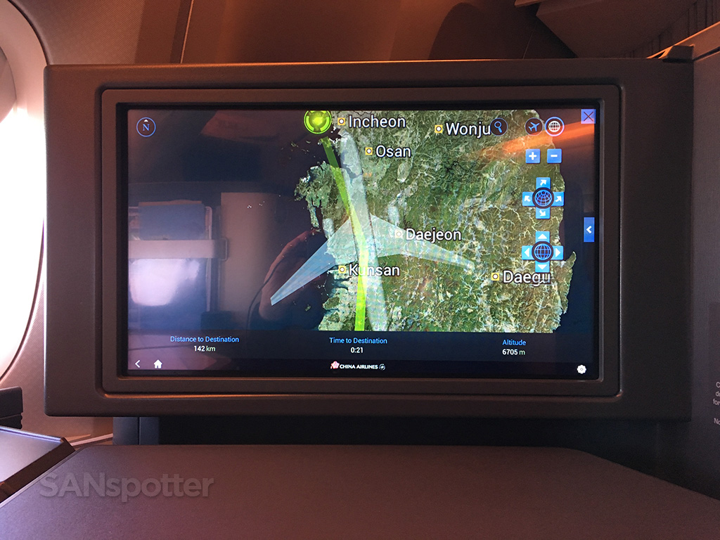 china airlines moving map display