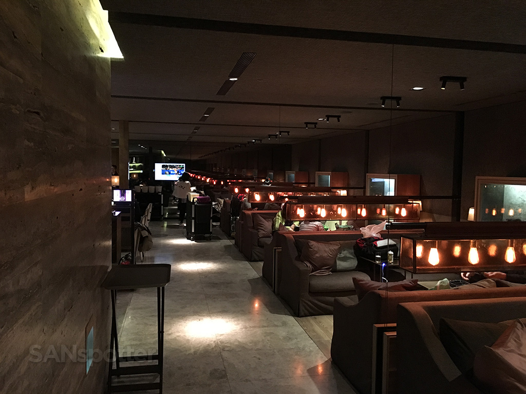 China Airlines Business Class lounge seating
